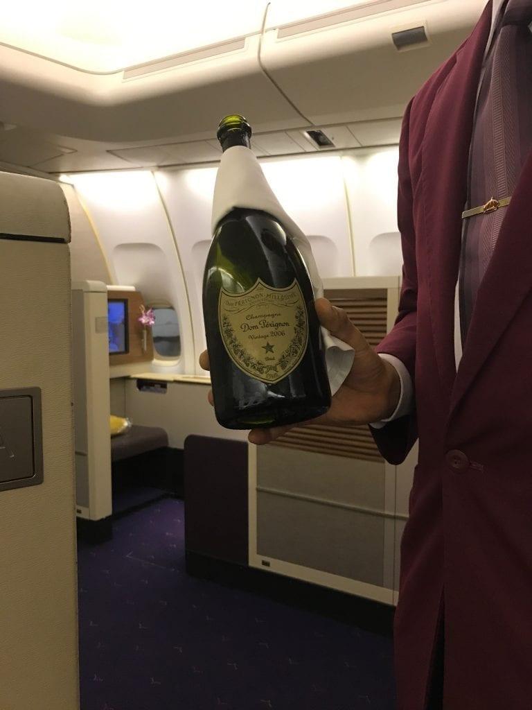 Dom Perignon ombord Thai