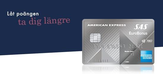 Kreditkort: SAS EuroBonus American Express Elite Card