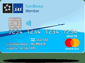 Kreditkort: SAS EuroBonus World Mastercard
