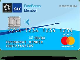 Kreditkort: SAS EuroBonus World Mastercard Premium