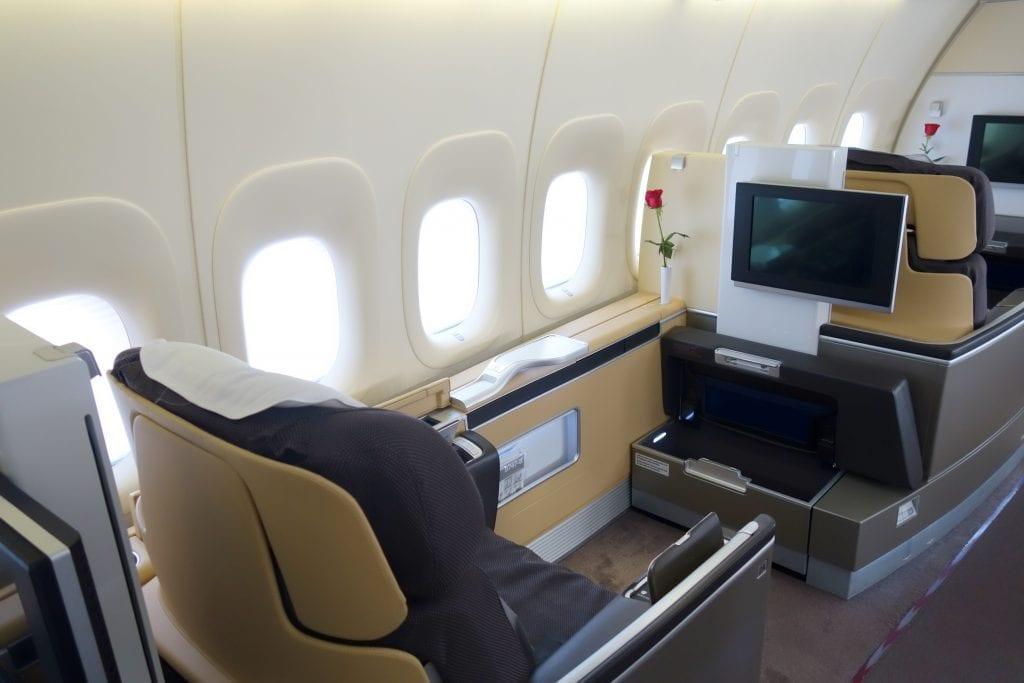 Lufthansa First Class, kabin