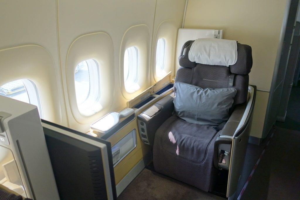 Med lite planering lyckades Emma & Johan flyga Lufthansas fantastiska First Class