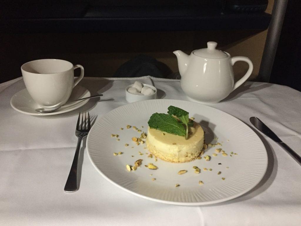 Cheesecake med pistasch, ANA First Class