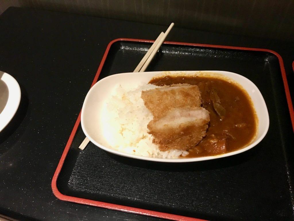 Japansk katsu med ris, ANA Suite Lounge