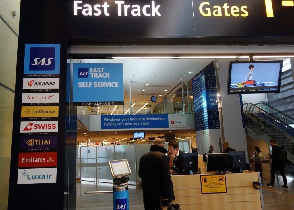 Prioritet i säkerhetskontrollen (Fast Track) på Arlanda