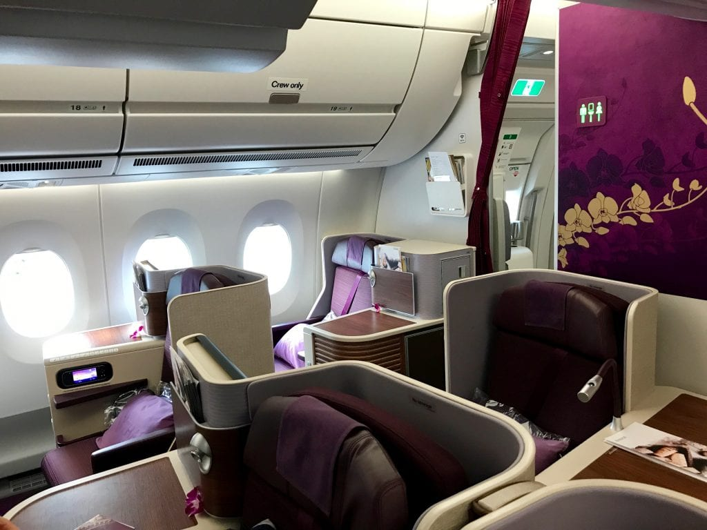 Thai Business Class A350, kabin