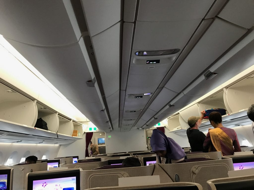 Thai Business Class A350, kabinöversikt