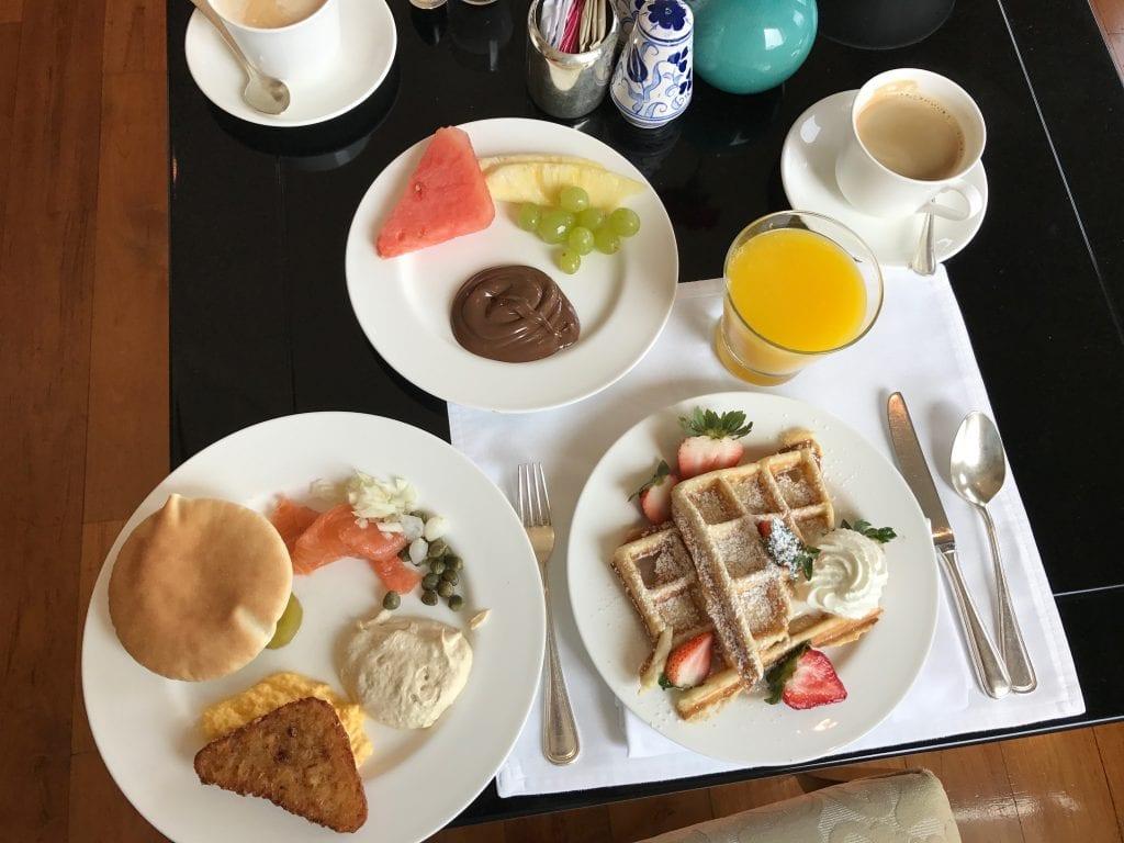 Ett urval från frukosten, Park Hyatt Dubai