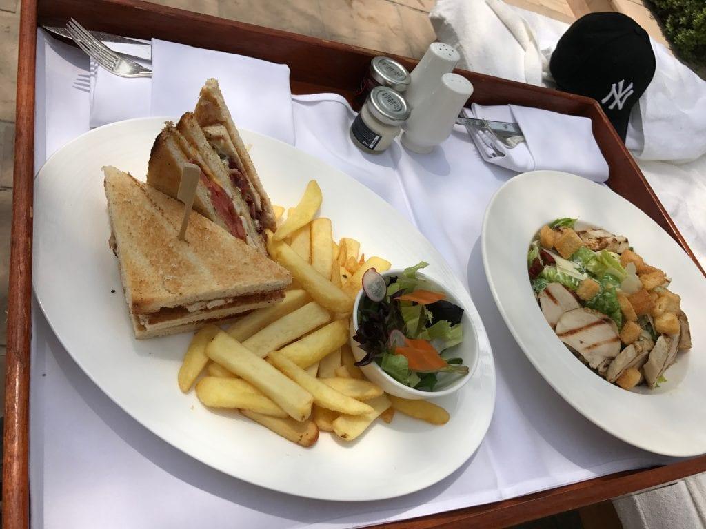 Club Sandwich & Caesarsallad, Park Hyatt Dubai