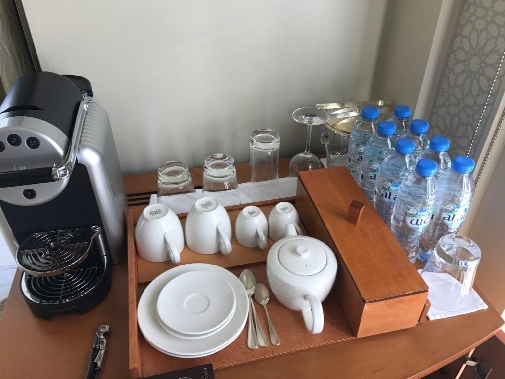 Kaffe, te och vatten, Park Hyatt Dubai