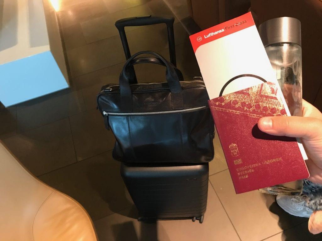 Lufthansas First Class-boarding pass