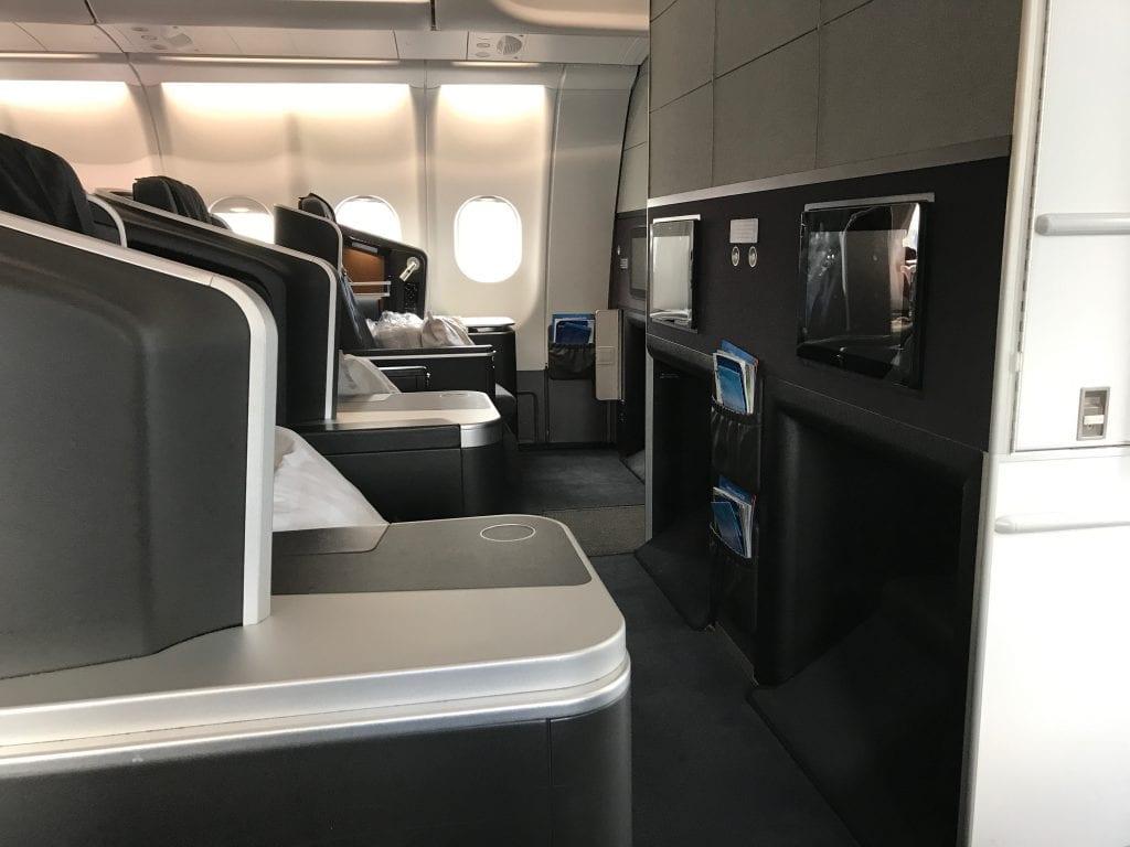 SAS Business Class, kabinöversikt