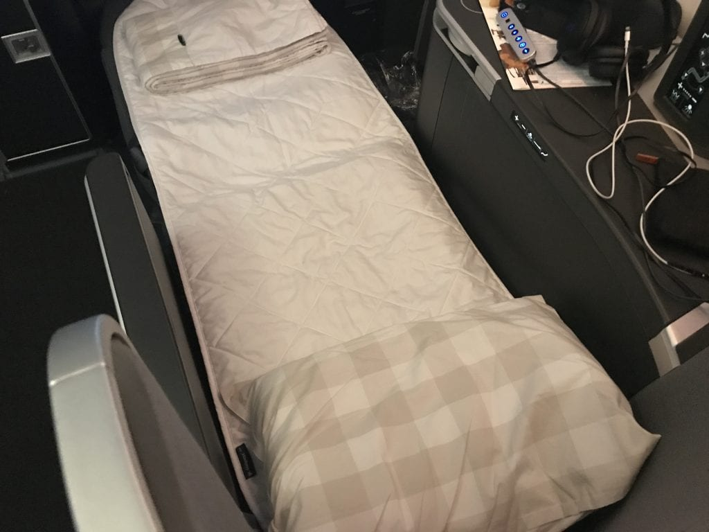 SAS Business Class, säng