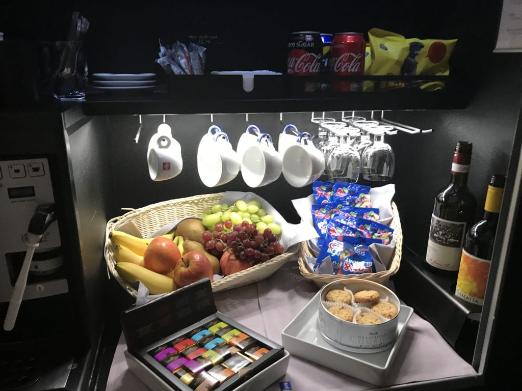 SAS Business Class, snack bar