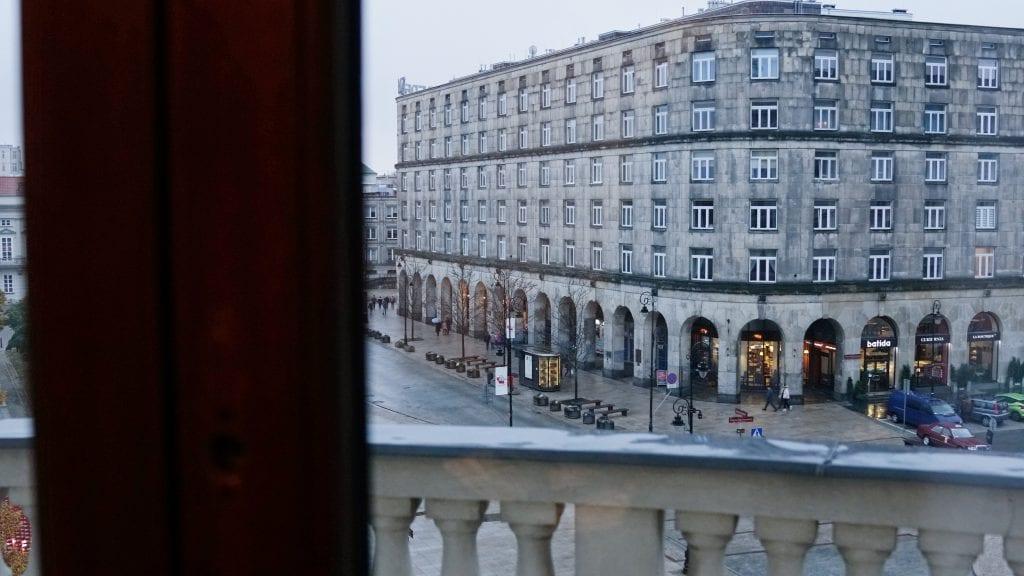 Utsikt från sviten, Hotel Bristol Warsaw