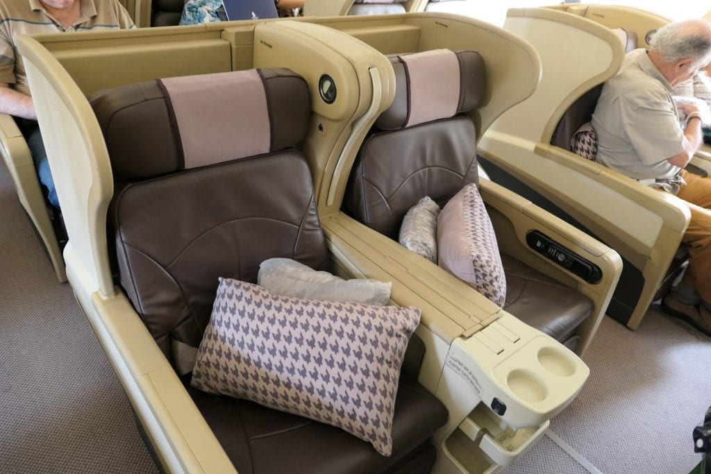 Singapore Airlines Business Class, säte