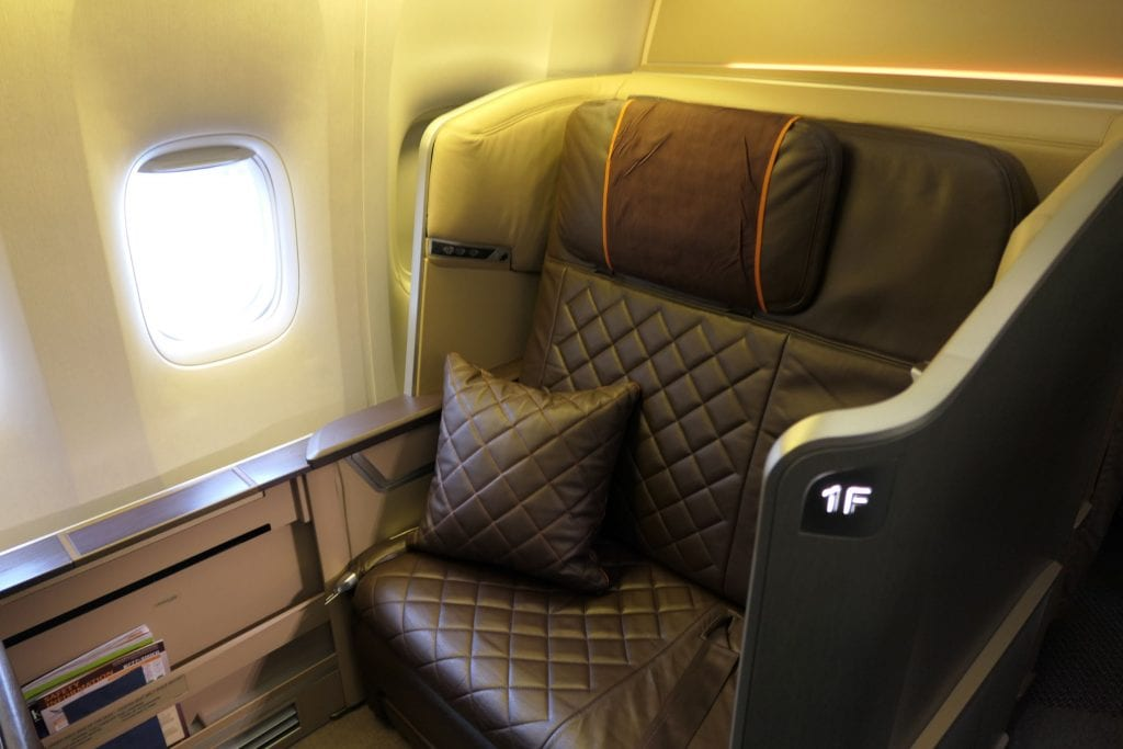 Singapore First Class, kabin