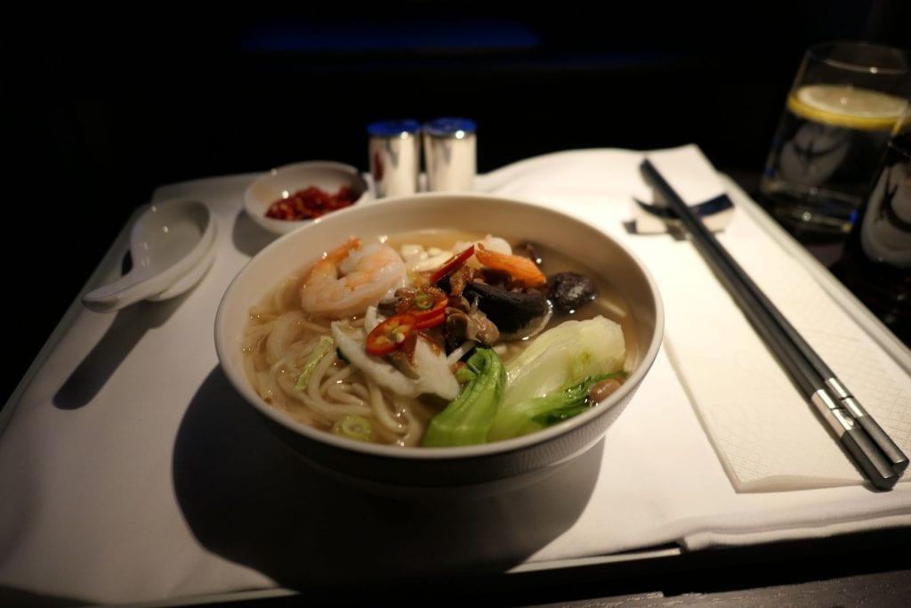 Nudelsoppa med räkor och grönsaker, Singapore First